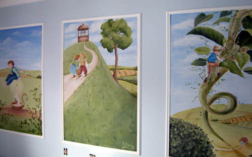 Jack's Nursery Rhyme Murals. Mother Goose Nursery Rhyme Murals - Artwork
