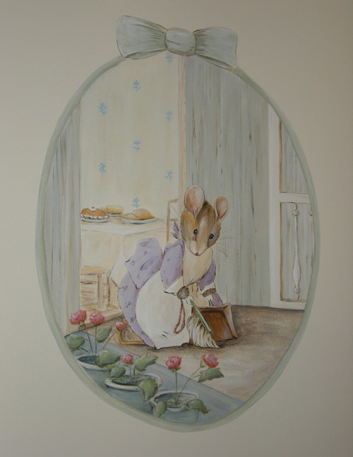 Classic peter rabbit beatrix potter nursery beatrice for Beatrix potter mural