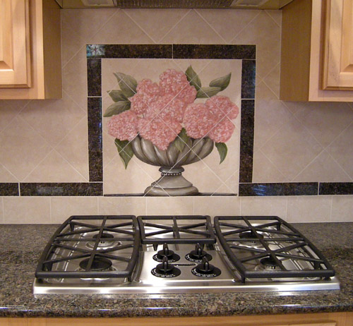 painted kitchen backsplash hand painted kitchen