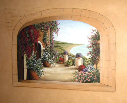 Trompe L Oeil Windows Muralist Debbie Cerone Wall Murals