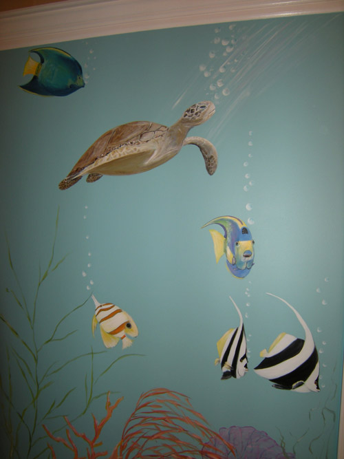 Indoor Pool Mural Muralist Debbie Cerone Wall Murals
