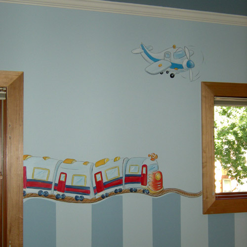 Boys Rooms - Planes and Trains