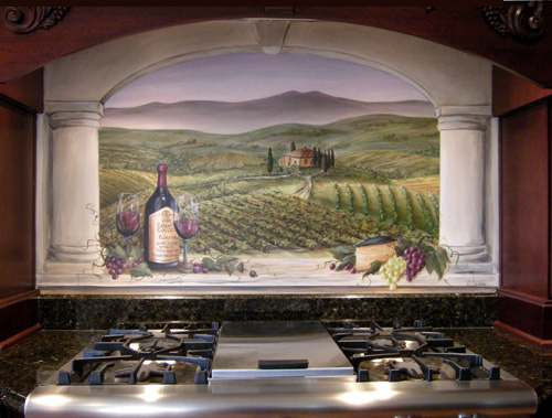 Tuscan Villa - Kitchen Backsplash