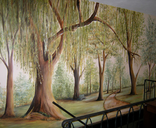 Painted Tree Mural Muralist Debbie Cerone Wall Murals
